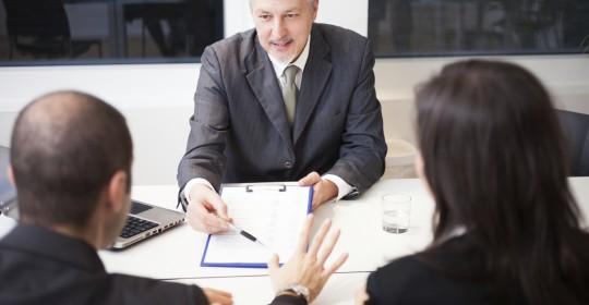 divorce lawyer explaining document